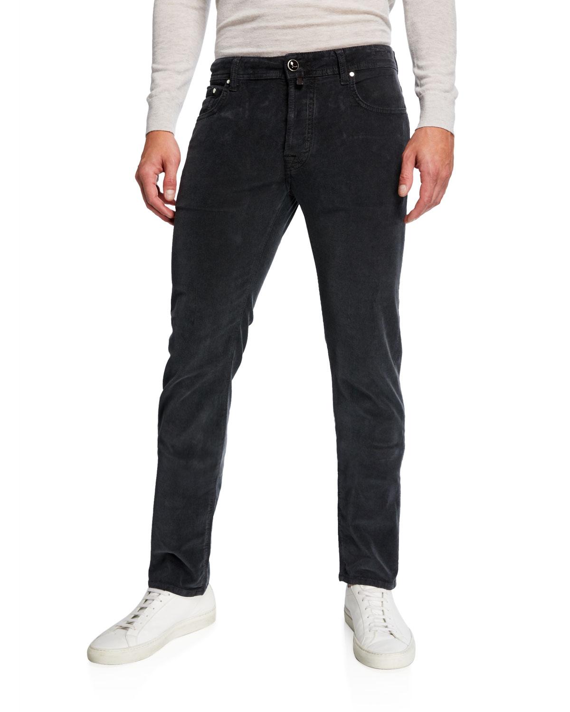Jacob Cohen Pants MEN'S 5-POCKET STRETCH-CORDUROY PANTS, GRAY