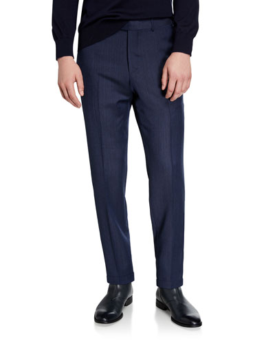 Men's Achillfarm Wool Denim Blue Trousers