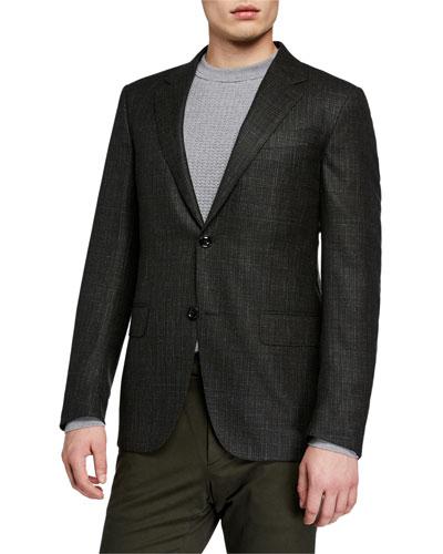 Men's Heathered Wool/Cashmere Blazer