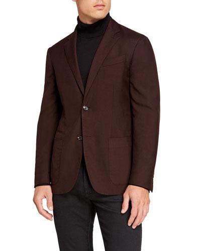 Men's Cashmere/Silk Two-Button Jacket