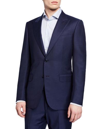 Men's Regular-Fit Tonal Stripe Two-Piece Suit