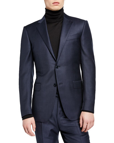 Men's Tonal Plaid Two-Piece Suit