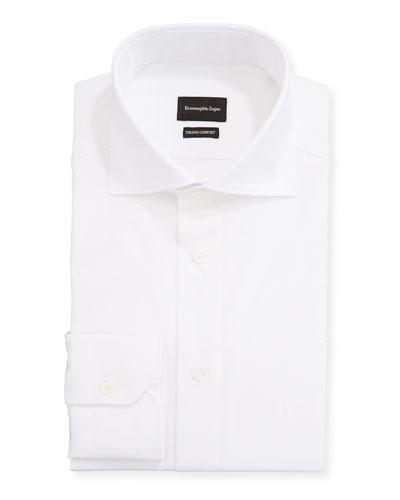 Men's Milano Fit Solid Trofeo Comfort Cotton Dress Shirt