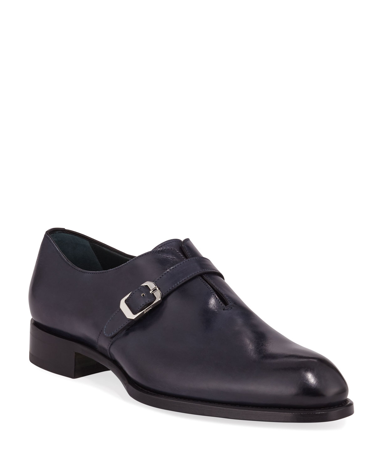 Brioni Loafers MEN'S BENEDICT MONK-STRAP LOAFERS