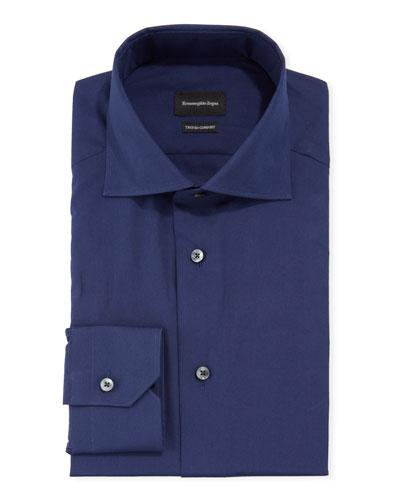 Men's Solid Trofeo Comfort Cotton Trim-Fit Dress Shirt