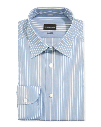 Men's 100fili Large Stripes Dress Shirt