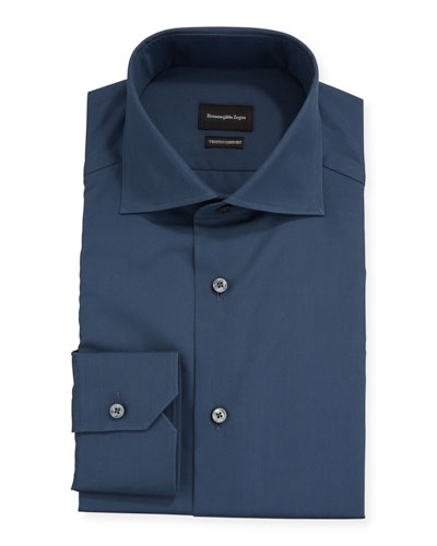 Men's Trofeo® Solid Trim-Fit Dress Shirt