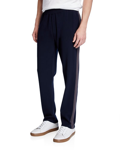 Men's Tech Jersey Side-Stripe Track Pants