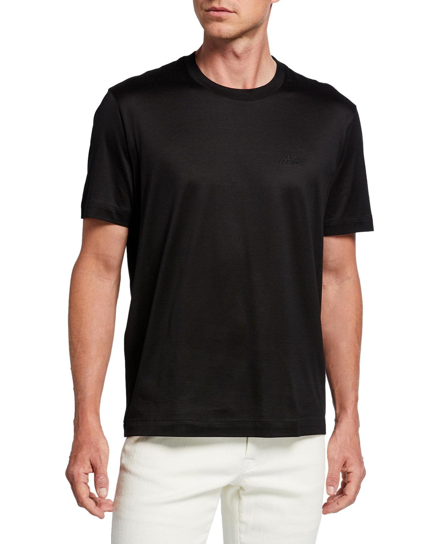 Brioni T-shirts MEN'S SOLID COTTON T-SHIRT