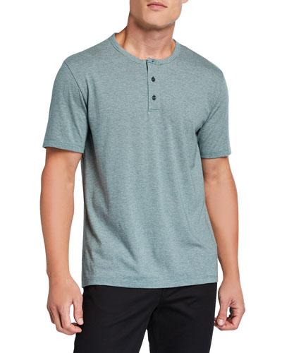 Men's Feeder Stripe Short-Sleeve Henley Shirt