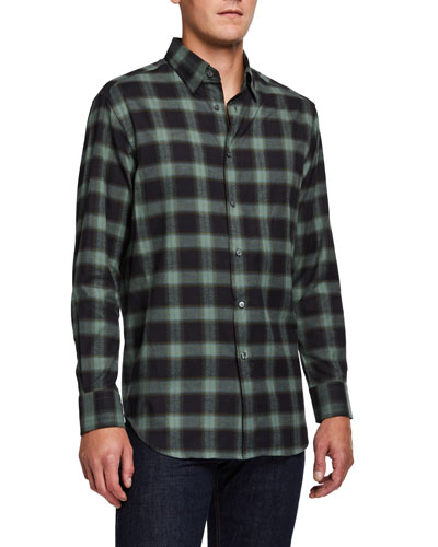 Men's Loden Plaid Sport Shirt