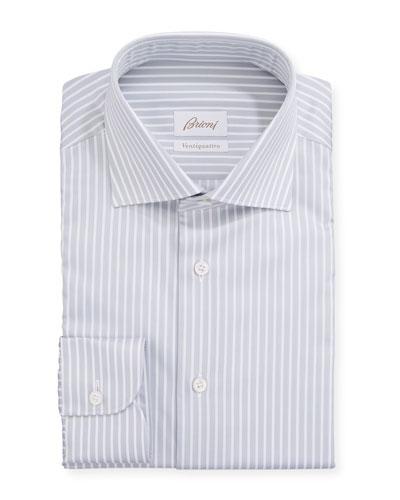 Men's Ventiquattro Striped Dress Shirt