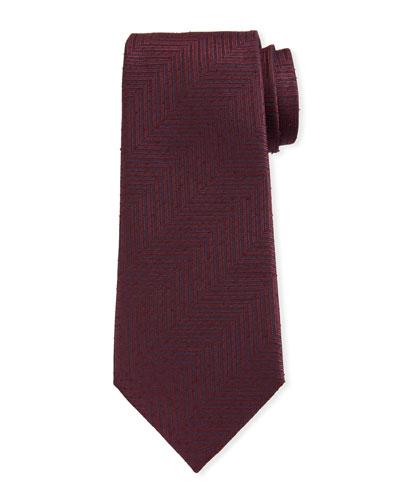 Men's Tonal Chevron Silk Tie