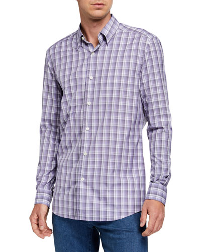 Men's Cento Quaranta Plaid Sport Shirt