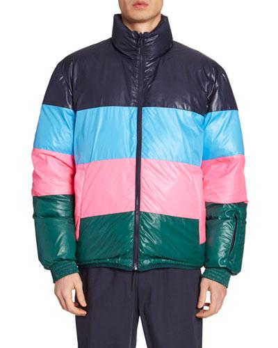 Men's Reversible Down Puffer Coat