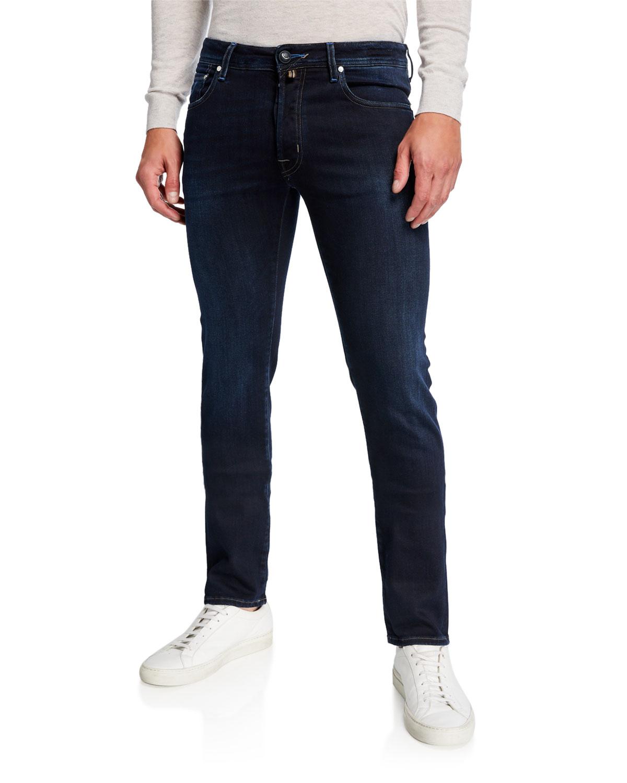 Jacob Cohen Jeans MEN'S DENIM STRAIGHT-LEG JEANS