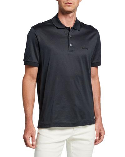 Men's 3-Button Cotton Polo Shirt