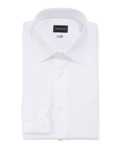 Men's Solid Cento Fili Cotton Dress Shirt