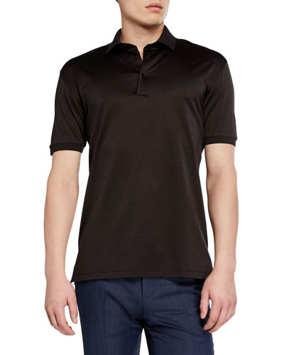 Men's Pique Polo Shirt, Dark Brown