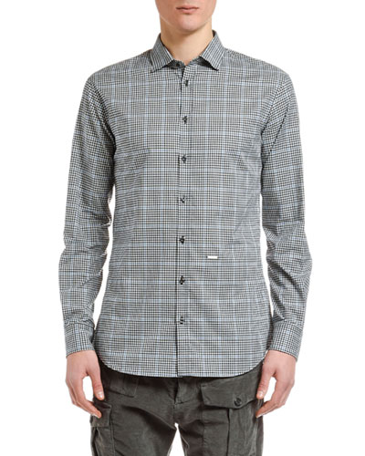 Men's Plaid Check Sport Shirt