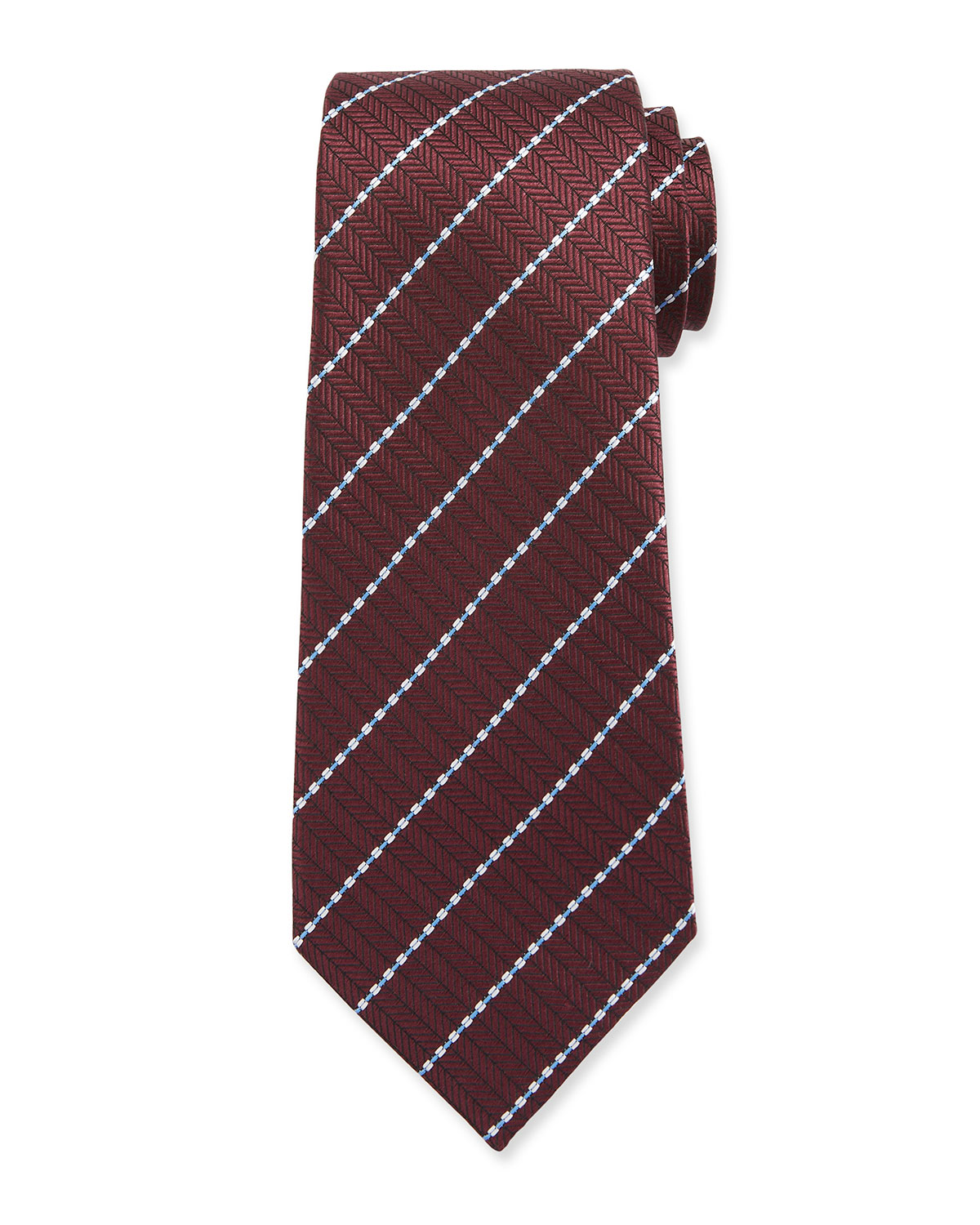 Ermenegildo Zegna Ties MEN'S STITCHED STRIPE TIE