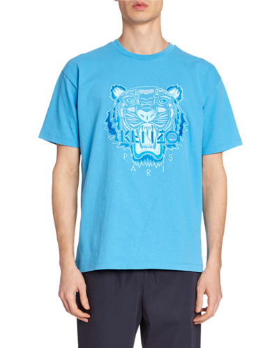 Men's Tiger Embroidered T-Shirt