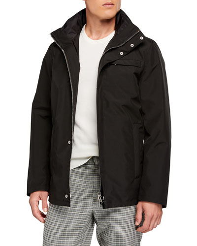 Men's Nylon Quilted Puffer Jacket