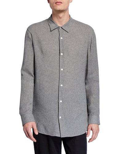 Men's Fine Twill Woven Sport Shirt