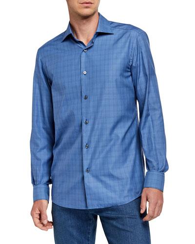 Men's Traveler Micro-Plaid Sport Shirt