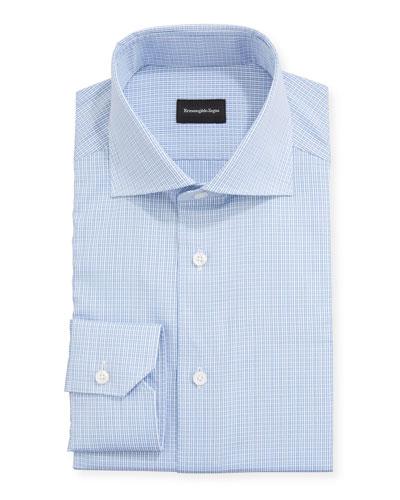 Men's Textured Check Sport Shirt