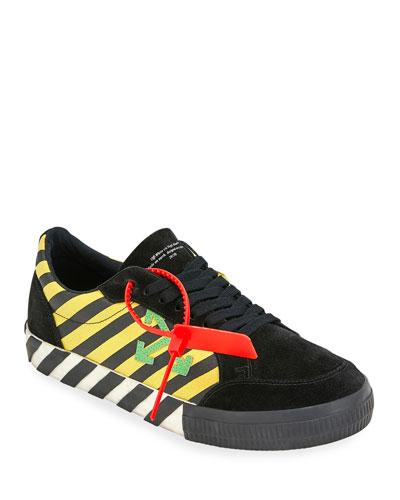 Men's Arrow Striped Low-Top Sneakers