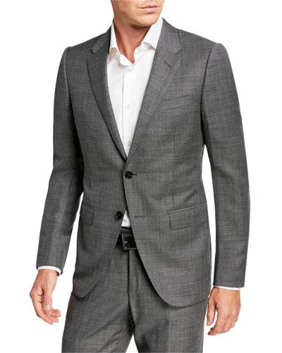 Sharskin Wool Trim-Fit Suit