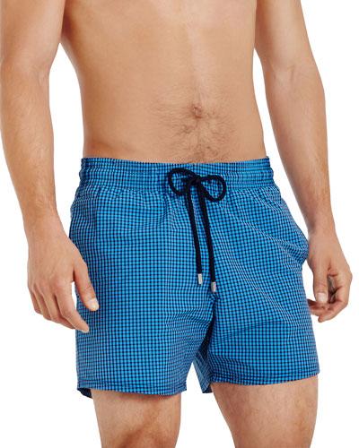 Men's Moorise Tiles Pattern Swim Trunks
