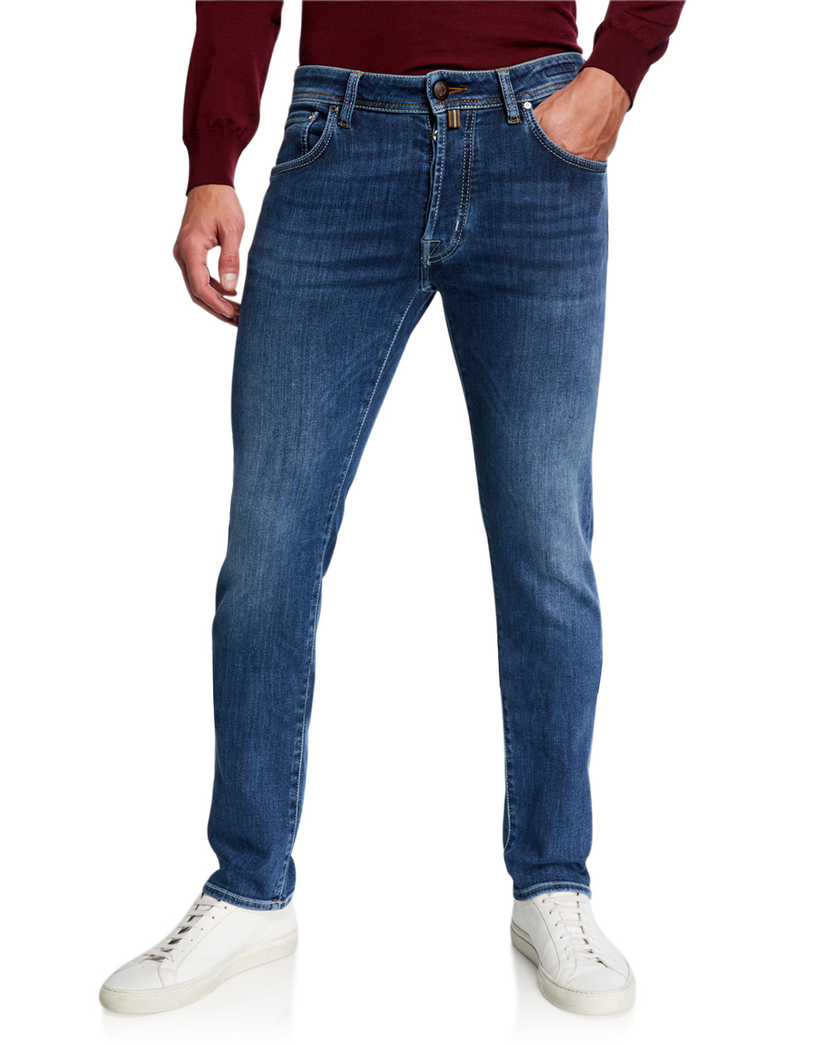 Jacob Cohen Jeans MEN'S MEDIUM-WASH SLIM STRETCH-DENIM JEANS