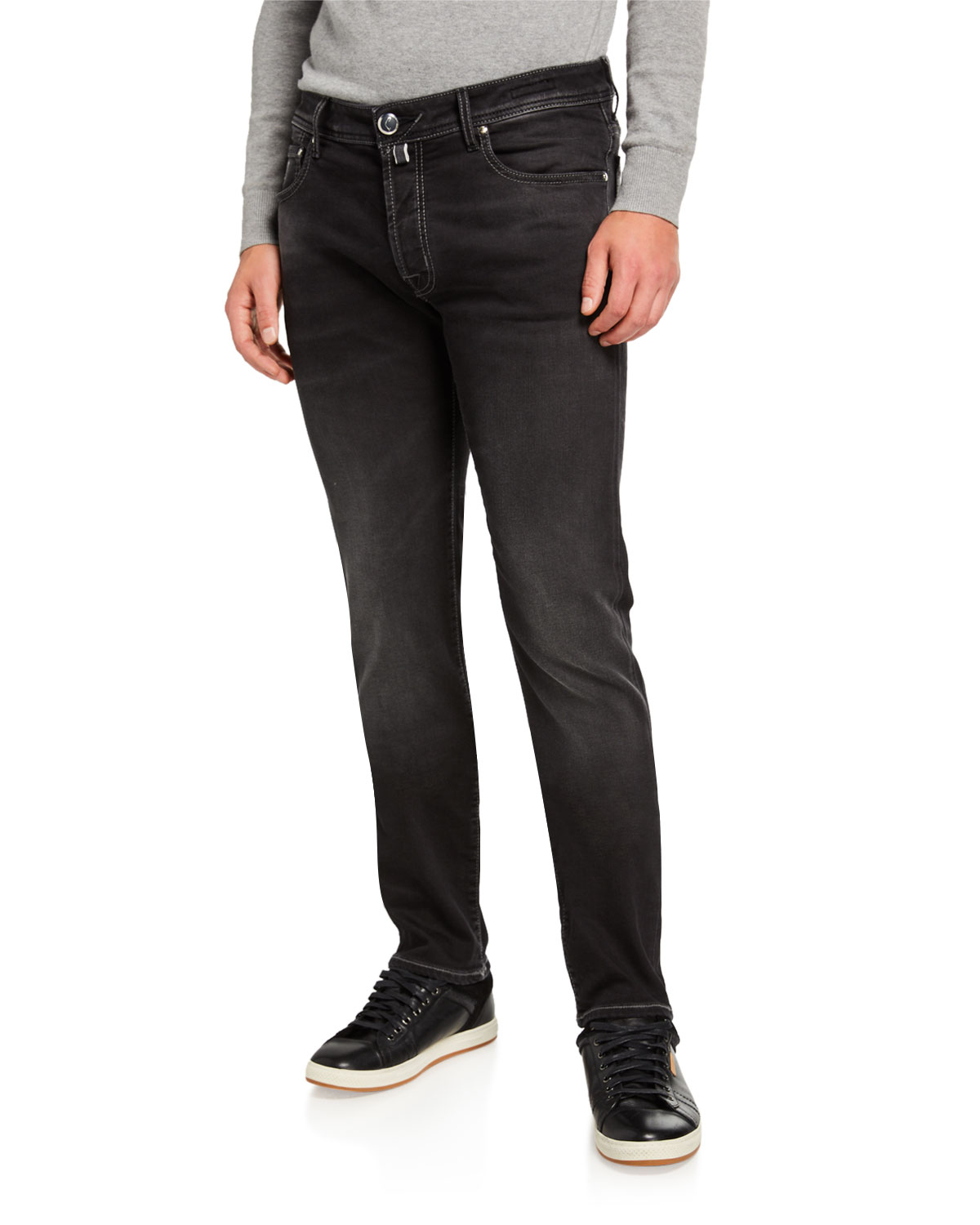 Jacob Cohen Jeans MEN'S LIMITED EDITION DARK STRETCH-DENIM JEANS