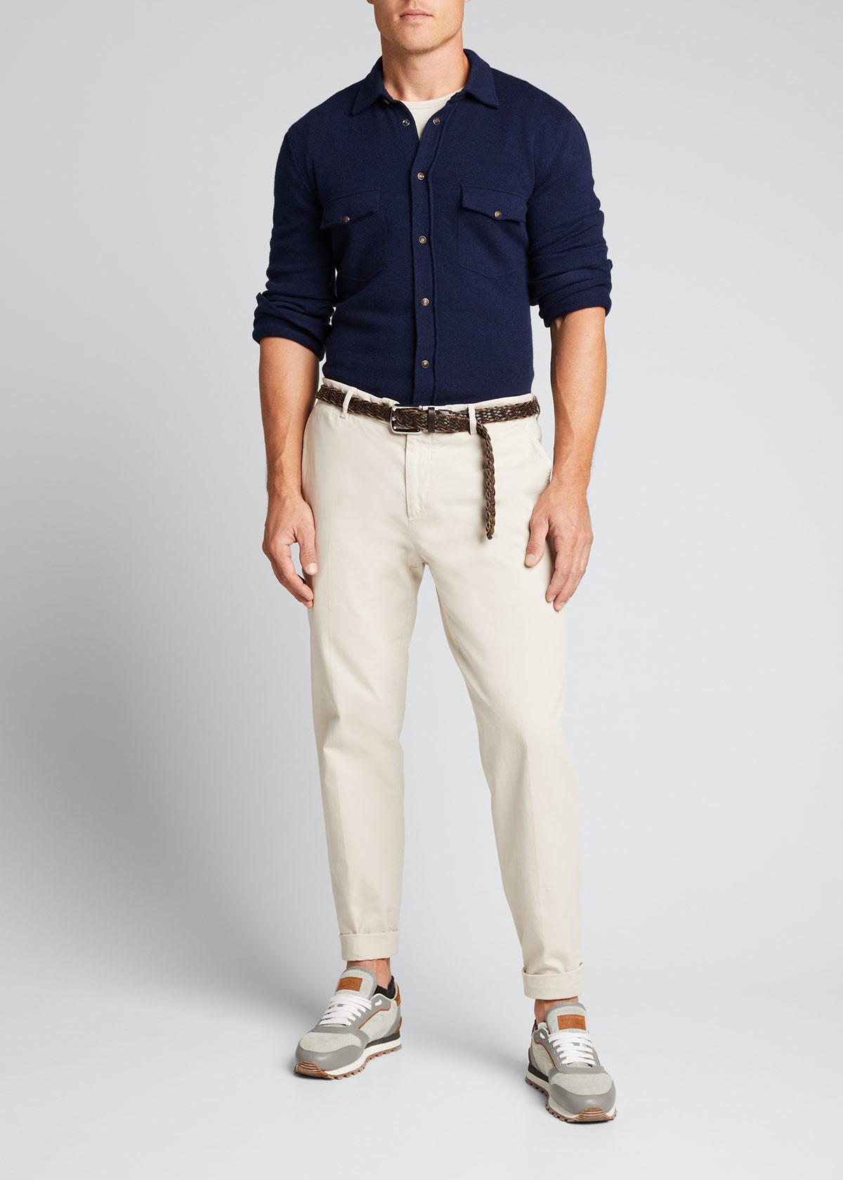 Brunello Cucinelli T-shirts MEN'S WESTERN-STYLE SHIRT CARDIGAN