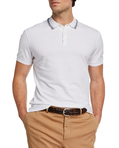 Men's Contrast-Trim Polo Shirt