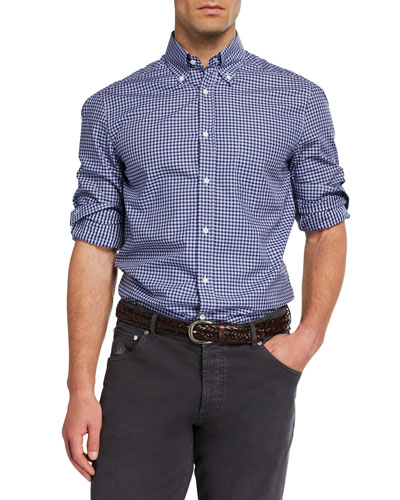 Men's Basic-Fit Check Sport Shirt