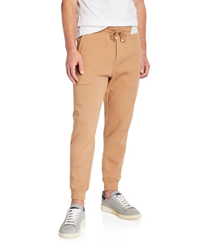 Men's Nylon-Trim Twill Jogger Pants