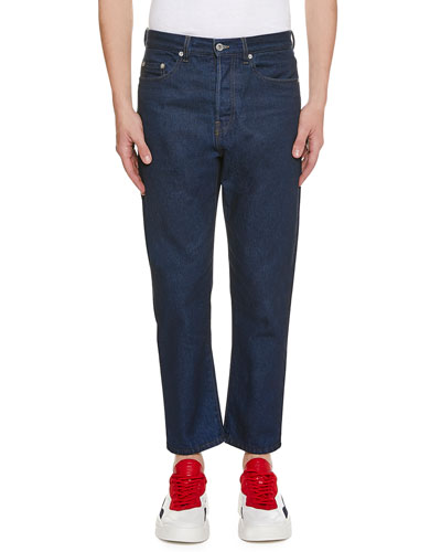 Men's Logo-Pocket Straight-Leg Jeans