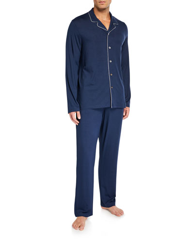 Men's Basel 1 Cotton Pajamas w/ Piping