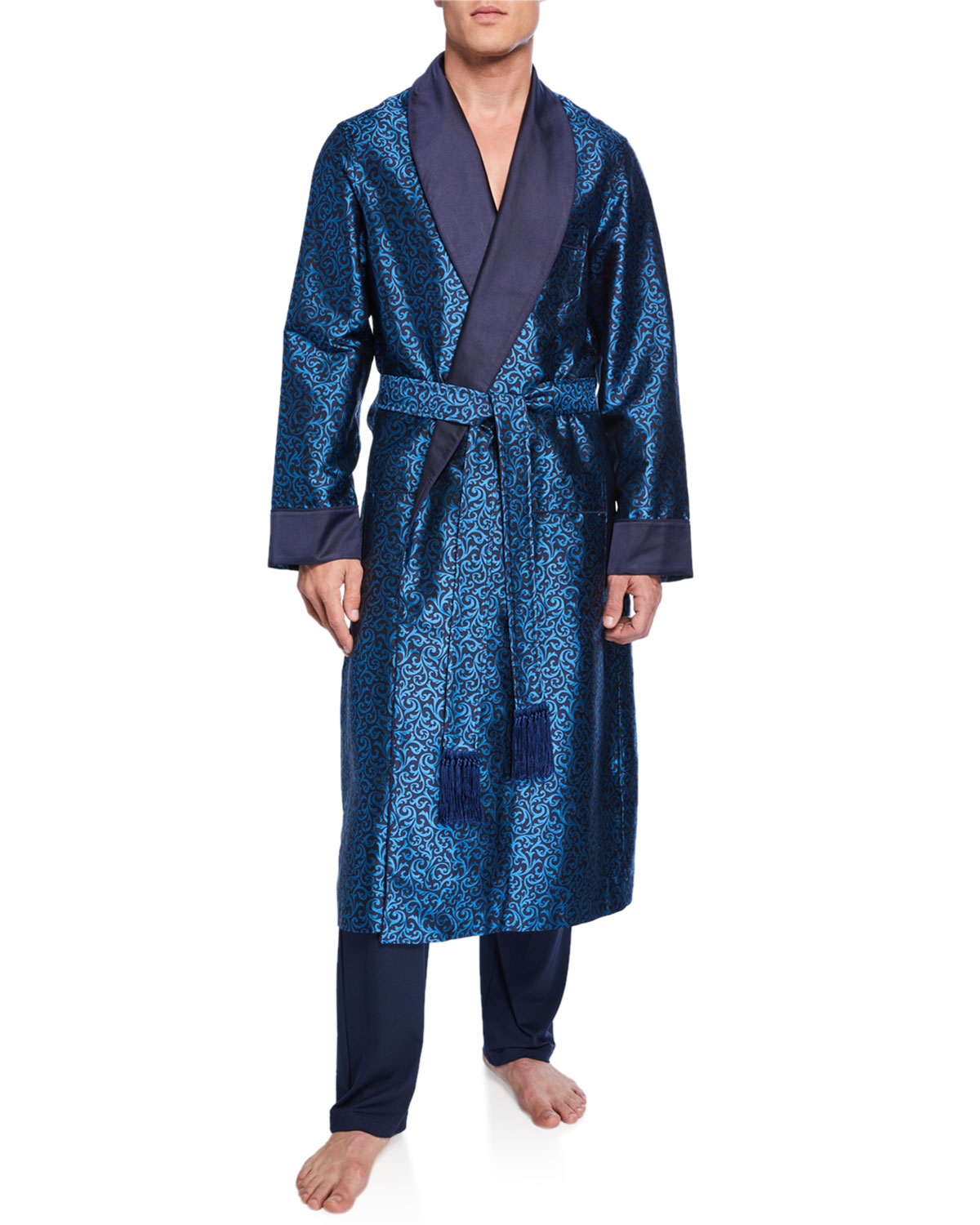 Derek Rose Tops MEN'S VERONA 46 SILK ROBE