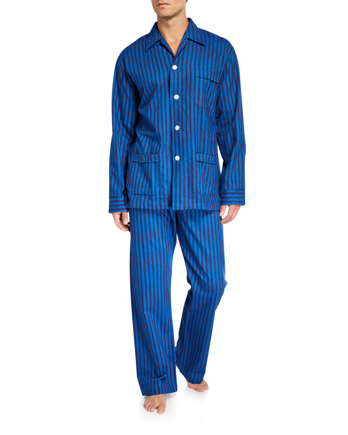 Derek Rose Tops MEN'S ARCTIC 19 STRIPED CLASSIC PAJAMAS