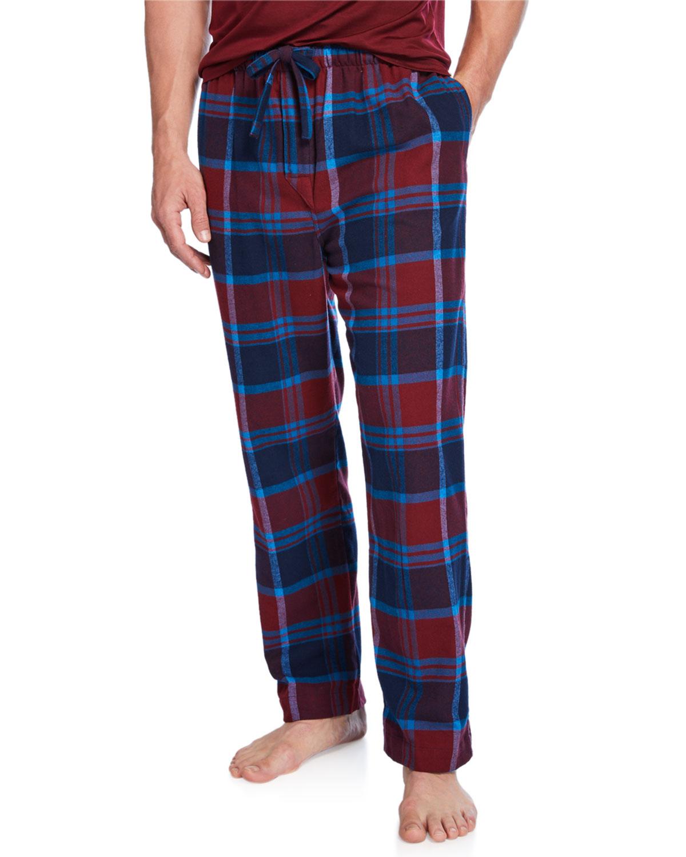 Derek Rose Pants MEN'S KELBURN 7 PLAID LOUNGE PANTS