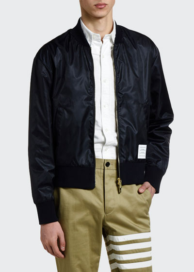 Men's Nylon Satin Bomber Jacket