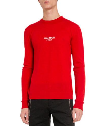 Men's Wool Logo-Print Sweater