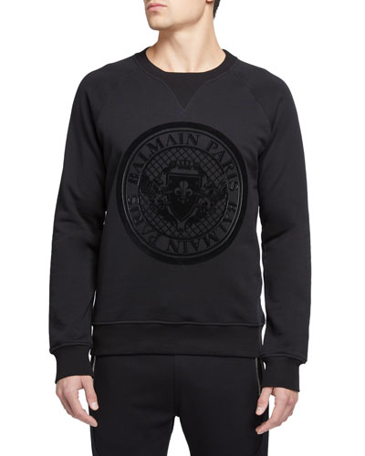 Men's Coin Logo Graphic Sweater
