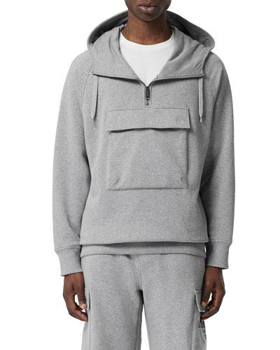 Men's Hooded Pullover Sport Shirt