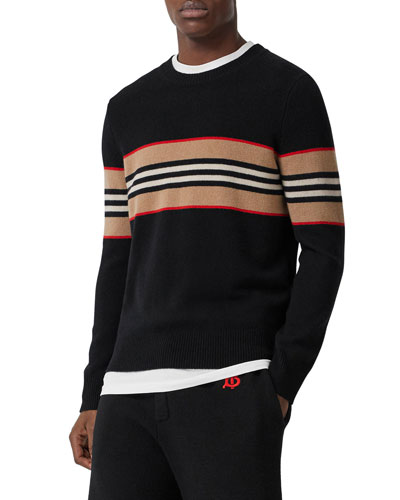 Men's Icon Stripe Cashmere Crew Sweater