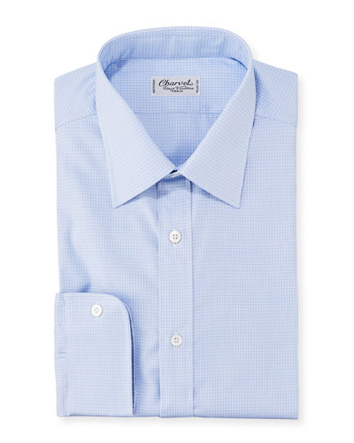 Men's Textured Poplin Dress Shirt